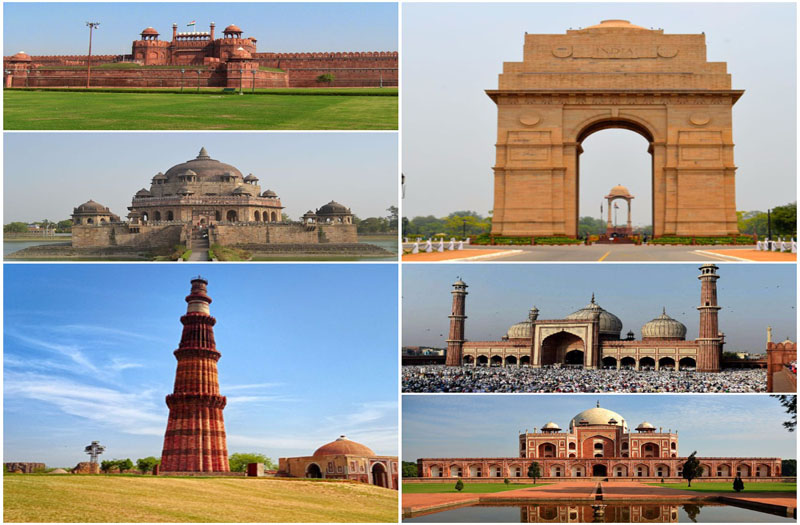 Image result for delhi most famous places in one image