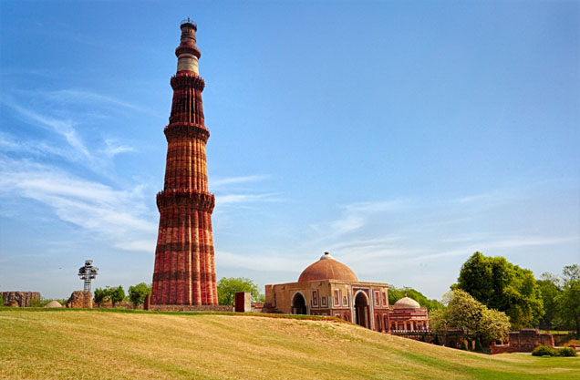 Qutab Minar is the tallest brick Minar in the world and is a perfect example of Indo-Islamic architecture.